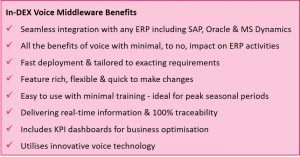 Warehouse Management Software Voice Middleware | SAP, Oracle
